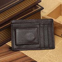 Men Faux Cowhide Leather Money Clip Wallet Credit Card ID Holder Business Pocket