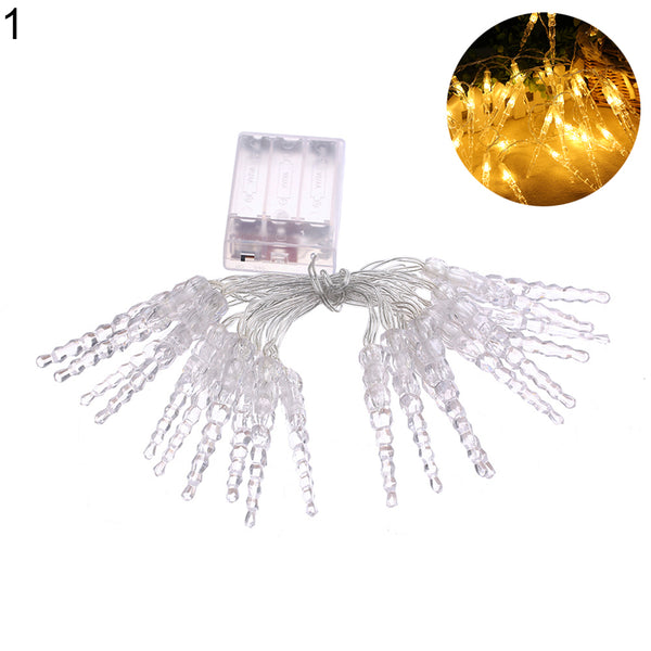20LED Romantic Icicle Fairy String Light Christmas Party Decor Lamp Gift Wedding