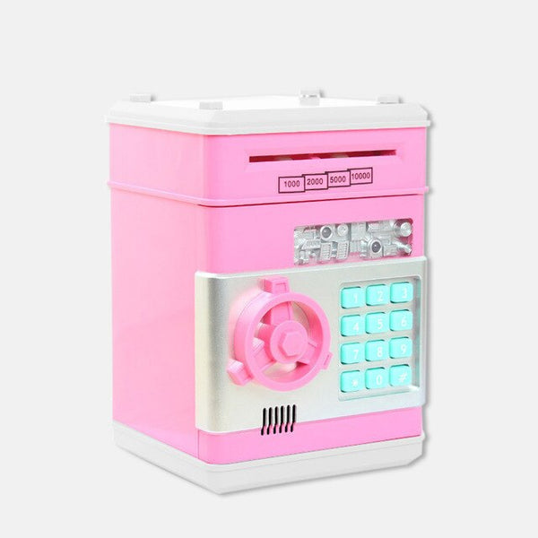Safety Password Chewing Coin Cash Deposit Machine Electronic Piggy Bank Mini Money Box Gift for Children Kids