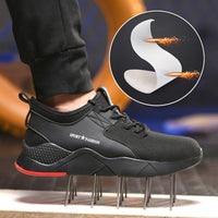 Men Boots Steel Toe Work Safety Boot Anti smashing Puncture Safety Shoes For Casual Sneaker Men Shoes Army Boots Work Shoes