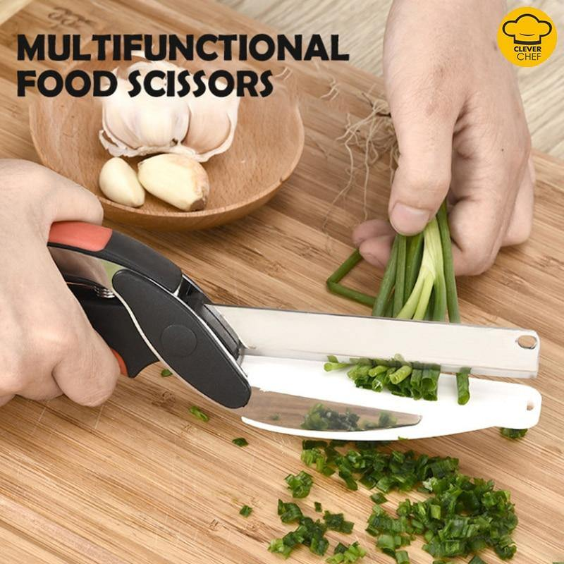 Smart Cutter - Kitchen Scissors with Cutting Board - Max Home Tools