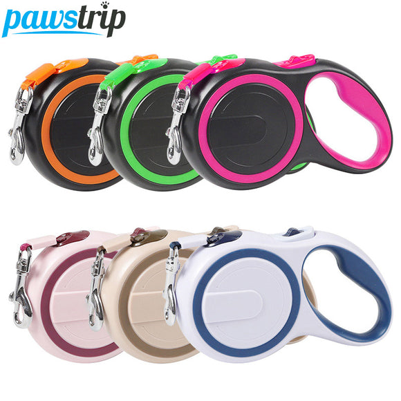 PAWSTRIP 3m/5m Retractable Dog Leash. Nylon Automatic Extending Leads For Dogs.