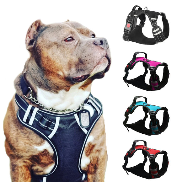 KIMHOMEPET Large Breathable Reflective Harness. For Smal,l Medium or Large Dogs.