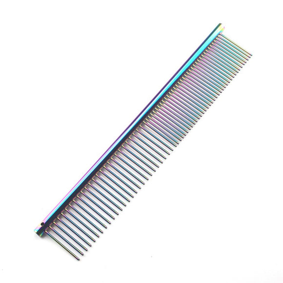 Colorful Piano Paint Professional Anti-Corrosion Detangling Grooming Comb For Dogs.