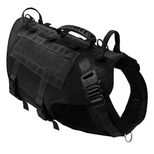 DIDOG Durable Nylon Dog Harness. Tactical Military K9 Working Dog Vest for Medium or Large Dogs .