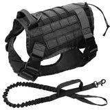 DIDOG Military Tactical Working Dog Harness with Lead. Very Durable, Great for Training.