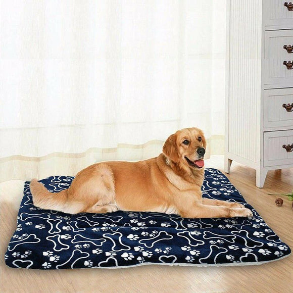 Large Soft Bone Printed Dog Bed. Washable.