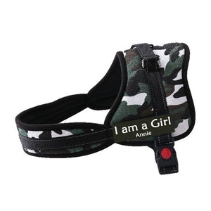 GLOBAL BABY Costumizable Name Dog Harness.  Free Name Phone Number Applied. For Small to Extra Large Dogs.
