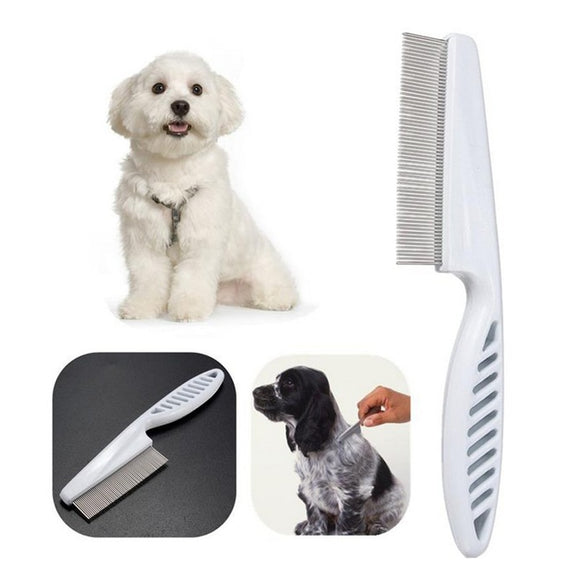 Flea Comb For Dogs. Stainless Steel. 18.5cm/14cm