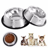 LET'S PET Stainless Steel Dog Bowls. 3 Sizes Available.