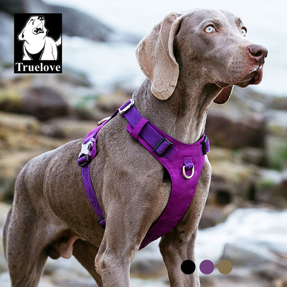 TRUELOVE Waterproof, Lightweight, Reflective, Nylon Dog Harness. For Small to Large Dogs.