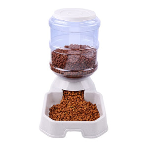 3.8 L Automatic Dog Eating/Drinking Bowl. Large Capacity Dispenser.