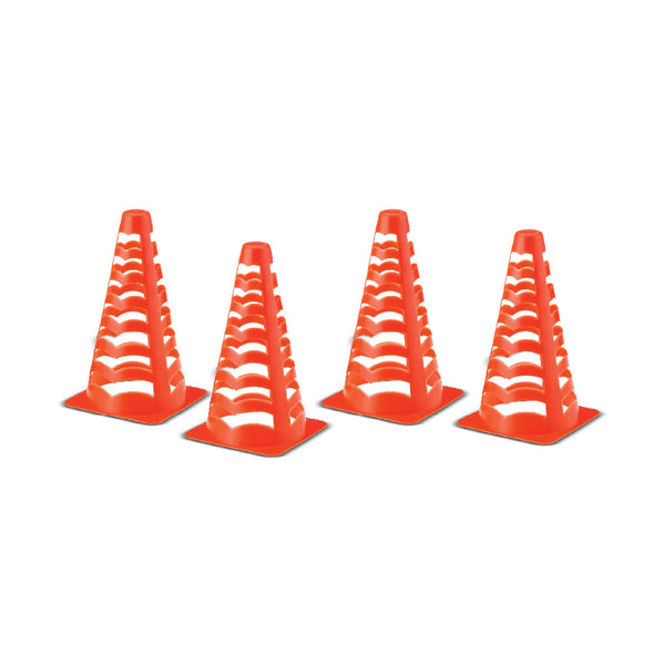 Champ Celebrations® Sports Training, Orange Field Marker Soccer Cones - Set of 4