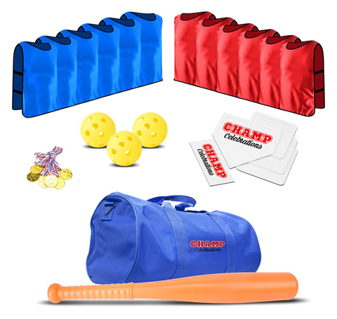 Champ Celebrations® 12 Player Baseball Game Set, Sports Party Bag For Kids