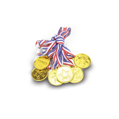 Champ Celebrations® Gold Winner Sports Champion Medals for Kids - Set of 12