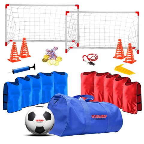 Champ Celebrations® 12 Player Soccer Game Set, Sports Party Bag For Kids