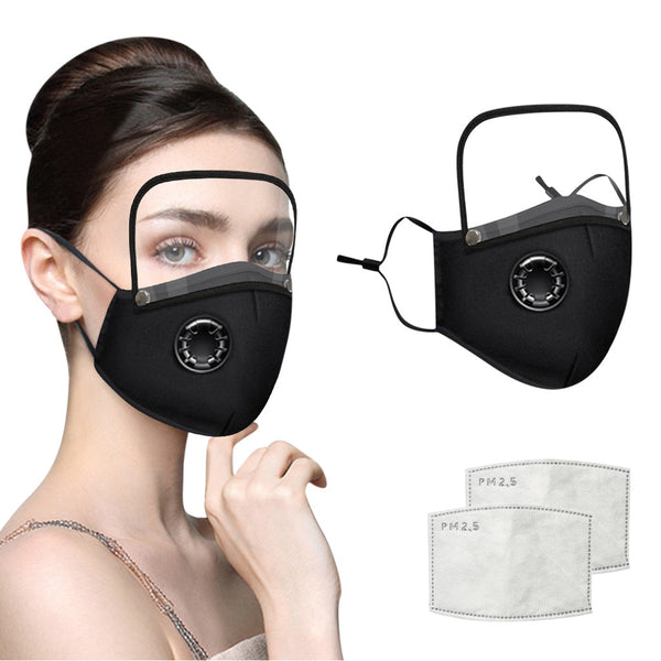 Cotton Mask with Eyes Shield