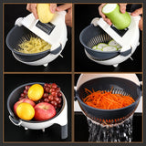 9 in 1 Vegetable Cutter / Chopper with Drain Basket