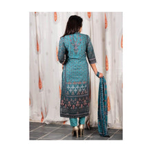 Load image into Gallery viewer, Sea Green Silk Suit Set