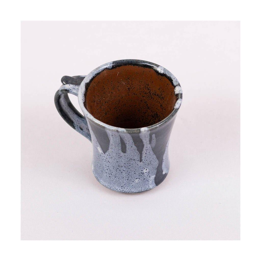 Stoneware Green Tea Mug | Blue glaze colour | Pondicherry pottery | 230 ml capacity - Paakhee - Handcrafting Dreams