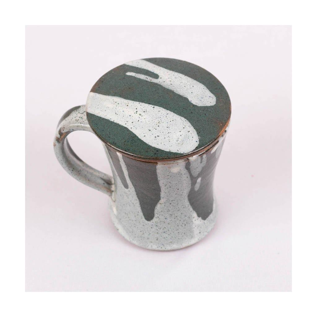Stoneware Green Tea Mug | Green glaze | Pondicherry pottery | 230 ml capacity - Paakhee - Handcrafting Dreams