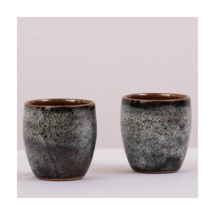 Stoneware Kulhad - Aqua Green Glaze - Set of 2 - Paakhee - Handcrafting Dreams