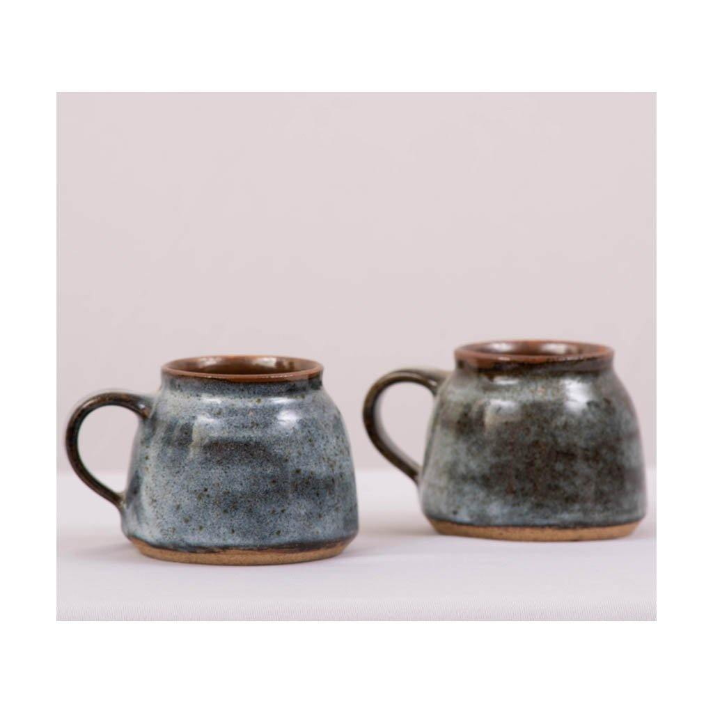 Stoneware Coffee & Tea Cup | Round rim | Pondicherry pottery | 150ml capacity | Set of 2 - Paakhee - Handcrafting Dreams