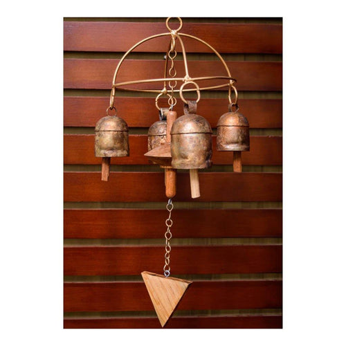 Wind Chime | Arch Theme | Set of 4 copper coated bells | Gujarat Handicraft - Paakhee - Handcrafting Dreams