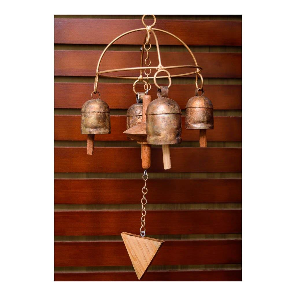 Copper bell wind chime with arch finish - Paakhee - Handcrafting Dreams