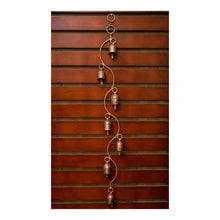 Load image into Gallery viewer, Wind Chime | Spiral Theme | Set of 7 copper coated bells | Gujarat Handicraft - Paakhee - Handcrafting Dreams