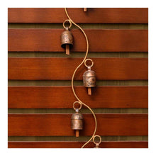 Load image into Gallery viewer, Long copper wind chime in spiral finish