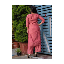 Load image into Gallery viewer, Festive Pink Embroidery Kurta Pant Set - Paakhee - Handcrafting Dreams