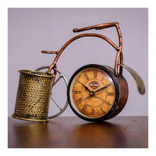 Load image into Gallery viewer, Table top cycle clock with pen stand - Paakhee - Handcrafting Dreams