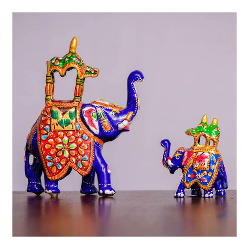Mysore Dasara Elephant - Set of 2 - Paakhee - Handcrafting Dreams