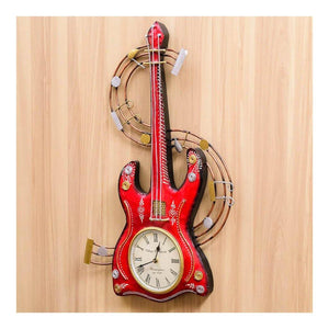 Wall Clock | Babool wood | Guitar Theme | Rajasthan Handicraft - Paakhee - Handcrafting Dreams