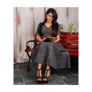 Dabu Print Cotton Dress - Paakhee - Handcrafting Dreams
