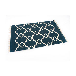 Hand Knotted Cotton Rugs - Dark Blue - Paakhee - Handcrafting Dreams