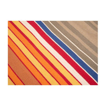 Load image into Gallery viewer, Cotton Floor Rug | 3 by 5 feet | Multi colour stripes pattern | Uttar Pradesh Handicraft - Paakhee - Handcrafting Dreams