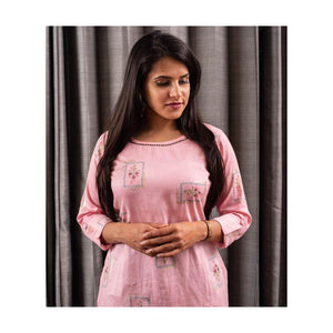Pink Cotton Kurti - Paakhee - Handcrafting Dreams