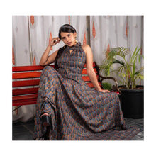 Load image into Gallery viewer, Party Wear Flowy Silk Gown - Paakhee - Handcrafting Dreams