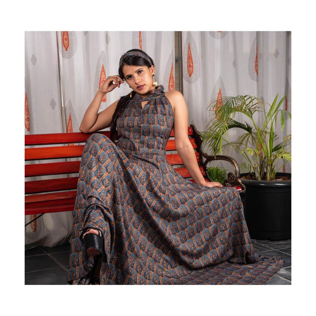 Party Wear Flowy Silk Gown - Paakhee - Handcrafting Dreams