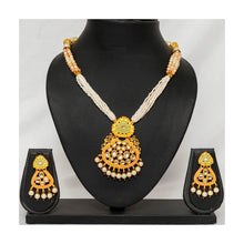 Load image into Gallery viewer, Party wear Maharani meenakari pearl string faux kundan Jewellery set