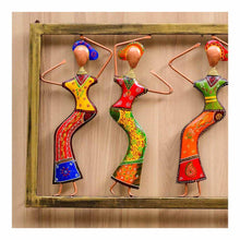 Load image into Gallery viewer, Dancing ladies | Wall Art | Rajasthan Handicraft | Made of Metal - Paakhee - Handcrafting Dreams