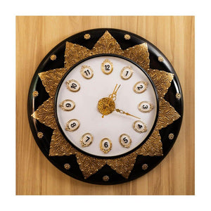 Lotus theme clock - Wooden base - Paakhee - Handcrafting Dreams