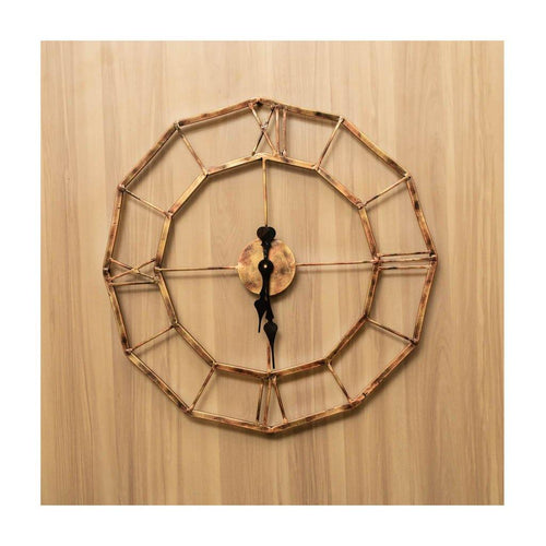 Metal Wall Clock | Medium Size | Roman Dial | Rajasthan Handicraft | Diameter 45cm - Paakhee - Handcrafting Dreams