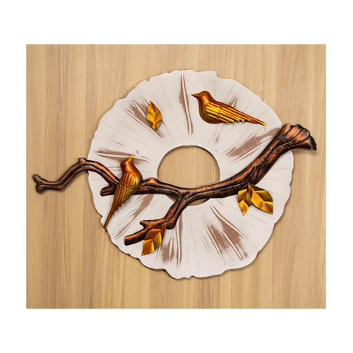 Two chirping birds on a branch | Wall Art | Rajasthan Handicraft - Paakhee - Handcrafting Dreams