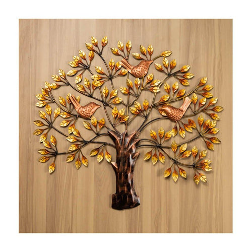 Tree of life | Golden colour | Wall Art | Rajasthan Handicraft - Paakhee - Handcrafting Dreams