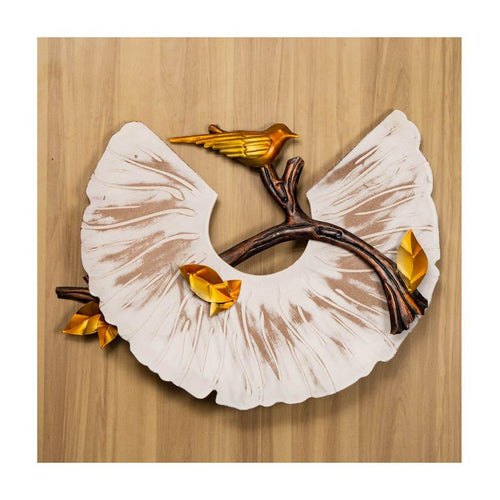 Chirping bird on a branch | Wall Art | Rajasthan Handicraft - Paakhee - Handcrafting Dreams
