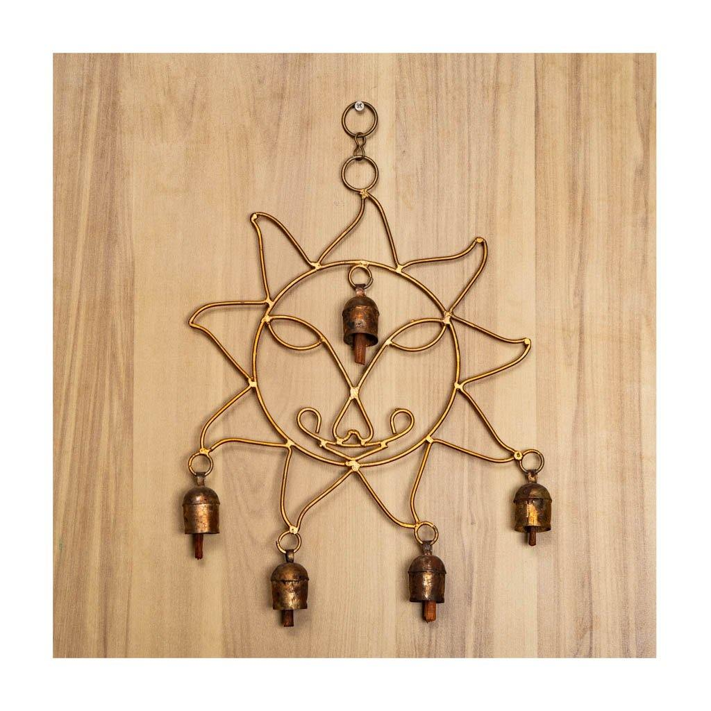 Kutch bell wind chime - Sun theme - Paakhee - Handcrafting Dreams