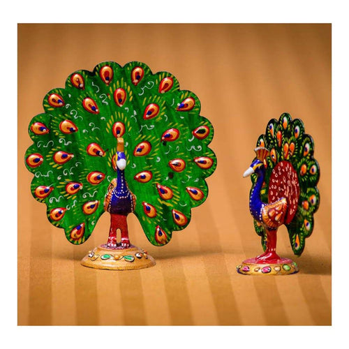 Peacocks - Set of 2 (Big and Small) - Paakhee - Handcrafting Dreams